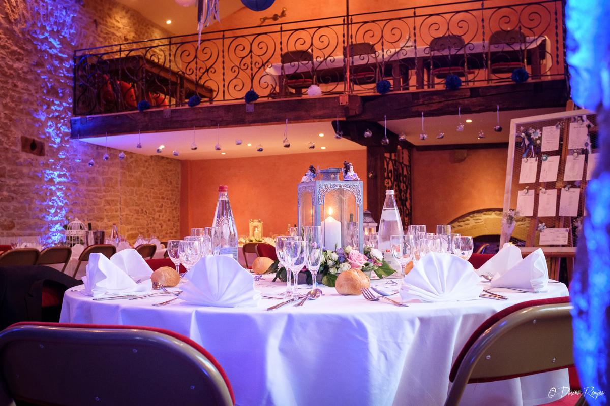 Table décorée pour un mariage