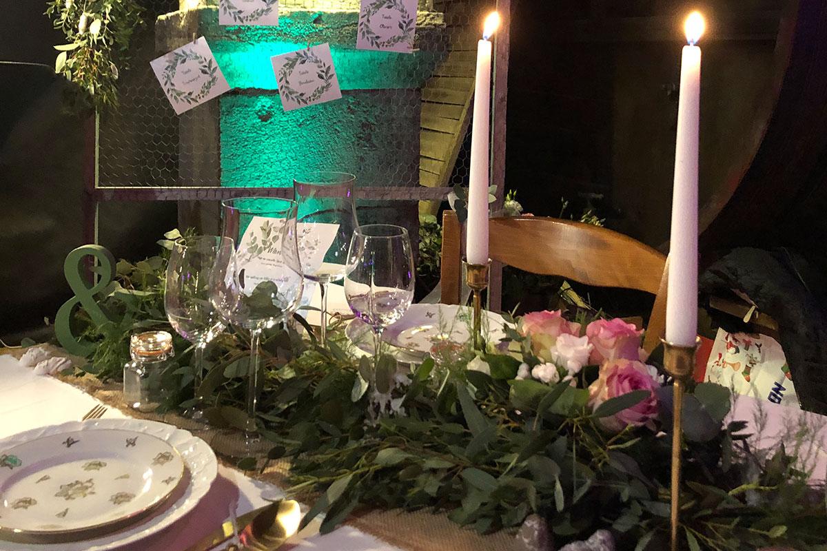 Chemin de table végétalisé