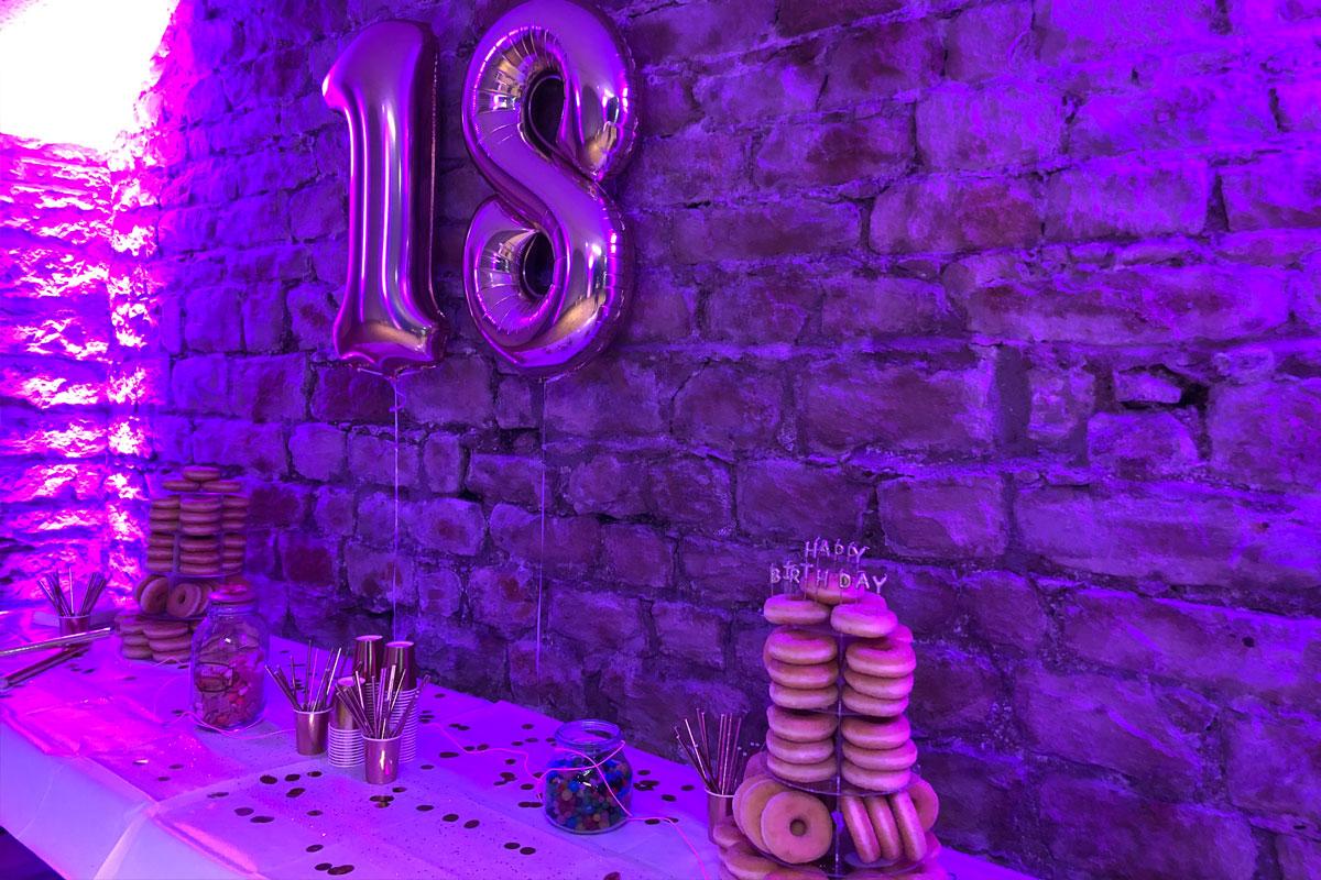 Décoration d'un anniversaire : 18 ans !